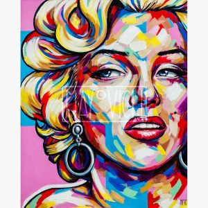 A unique, colourful and expressive portrait of Marilyn Monroe